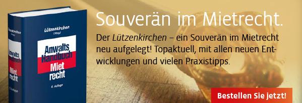 Neuauflage: Der Lützenkirchen - ein Souverän im Mietrecht neu aufgelegt! Hier informieren!