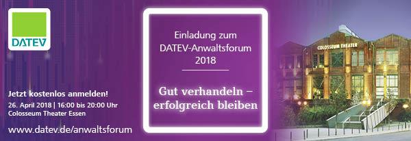 Einladung zum DATEV-Anwaltsforum.